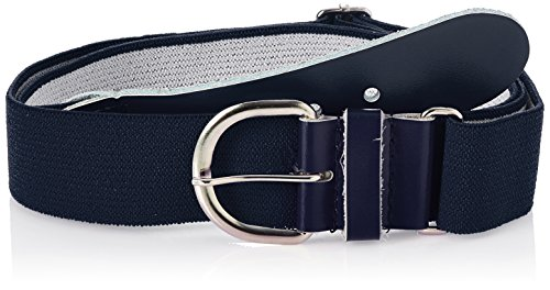 Champro Elastic Baseball Belt with 1.5-Inch Leather Tab (Navy, 28-52-Inch) (1.5
