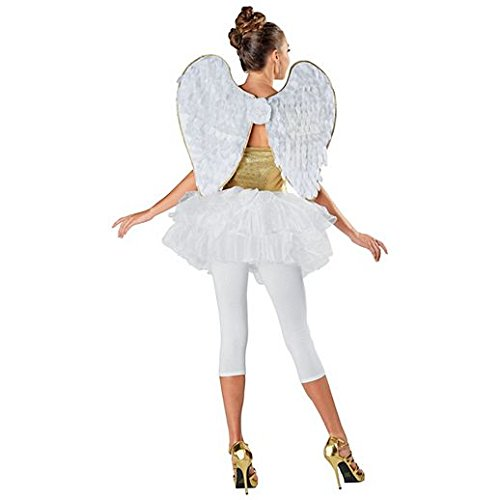 Magic Costume Halloween Gold Trimmed Angel Wings
