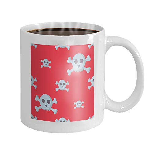 Coffee Mug Gifts Coffee Mug Tea Cup White 11 Oz Ceramic grunge skulls human bone horror art dead skeleton halloween vintage drawing graphic Watermark