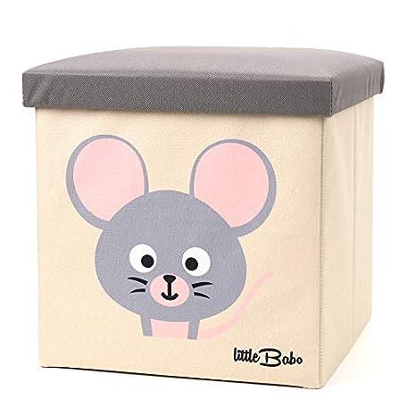 Little Babo Faltbare Aufbewahrungsbox Kinder Gross Stabil Zum Sitzen Spielzeug Kiste Mit Deckel Aufbewahrung Im Kinderzimmer Regal Korb