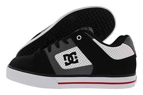 - DC Men's Pure Skate Shoe White/Black/red 9.5 D US
