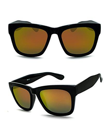 Unisex Polarized UV Protection Oversize Square Frame Fashion Style Sunglasses (shiny black , - Zipper Good Von Sunglasses Are