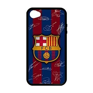 RAROFU New Style FC Barcelona Custom Case for iPhone 4,4S (Laser Technology)