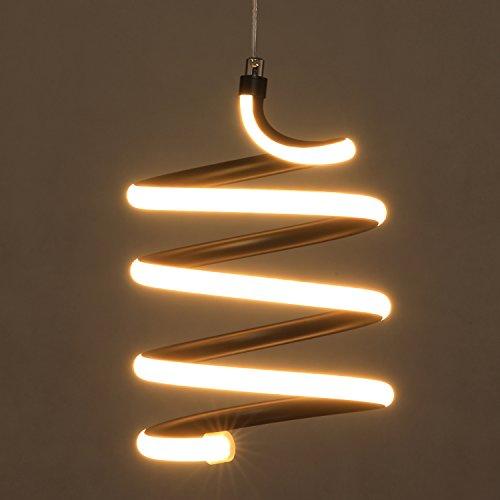 Kids Pendant Lighting (HMVPL LED Pendant Light, Modern Energy Saving Spiral Ceiling Lamp Fixture Lighting for Dining Room, Living Room, Bedroom, Kid Room, Hallway and More)