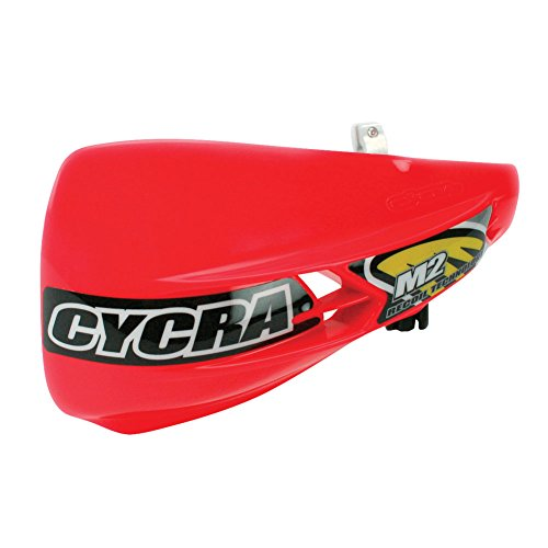 Cycra M2 Recoil Racer Pack Non-vented Handguards Red includes a Free Motoxtremes Sticker (Pack Vented Handguard Racer)