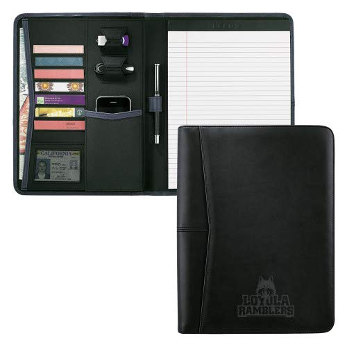 CollegeFanGear Loyola Chicago Pedova Black Writing Pad 'Loyola Ramblers Stacked Engraved'