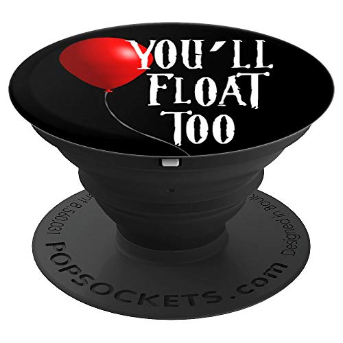 You'll Float Too - King Of Horror Red Balloon - PopSockets Grip and Stand for Phones and -