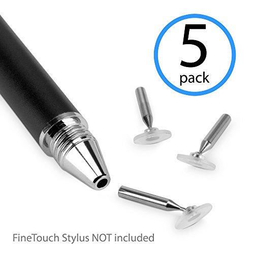 Stylus Pen, BoxWave [FineTouch Replacement Tips (5-Pack)] Spare Slide In Stylus Heads ()