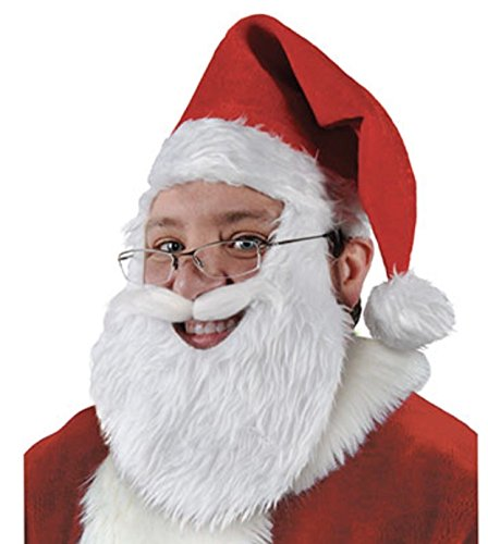 (ALIZIWAY Santa Hat Christmas Hat with Beard Xmas Holiday Party Hats for Men Y034)