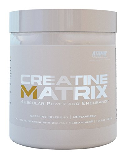 Atomic Strength Nutrition Creatine Matrix Muscular Power and Endurance Diet Supplement, 10.8 Ounce