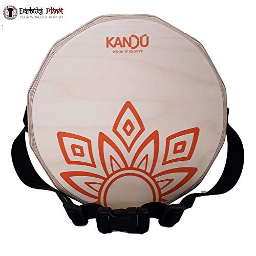 KTÄK -The First Handcrafted, Hand Drum Percussion, Two-Sound Cajón Body Snare, Portable Cajon by Kandu (Natural Wood/Orange Logo)