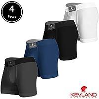 Cuecas Boxer Kevland - Kit Com 4 Peças OXFORD SORTIDO
