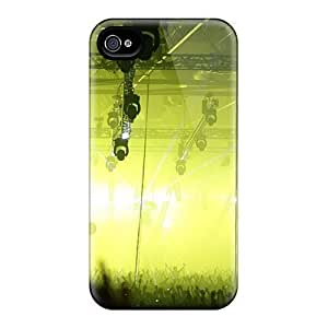 Top Quality Protection Lights Yellow Energy Crowd Trance Case Cover For Iphone 4/4s