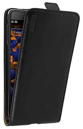 mumbi PREMIUM Leder Flip Case Samsung Galaxy Note 4 Tasche
