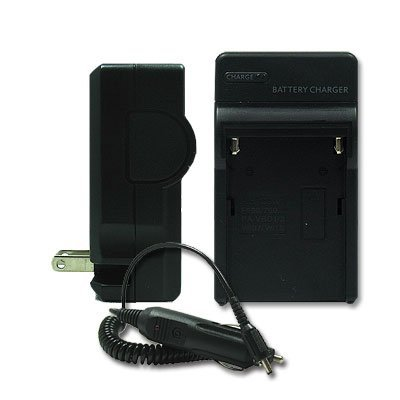 Kastar Battery Charger with Car Adapter for Sony Handycam DCR-DVD105 and Sony NP-FP50 NP-FP70 NP-FP90 NP-FH30 NP-FH50 NP-FH70 NP-FH100 NP-FV50 NP-FV70 NP-FV100 Batteries