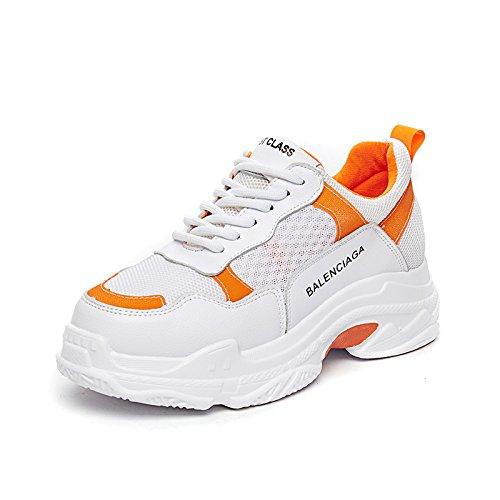 Orange Zapatos amp;G De NGRDX Correr Zapatos Zapatos Plataforma Femenina Femeninos Para Deportivos Malla 7qqTRwdU