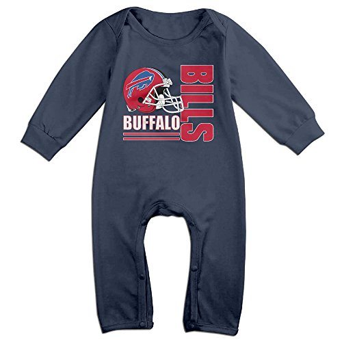 Sons Of Anarchy Costume Baby (PCY Newborn Babys Boy's & Girl's Buffalo Logo Bills Long Sleeve Bodysuit Outfits For 6-24 Months Navy Size 12 Months)