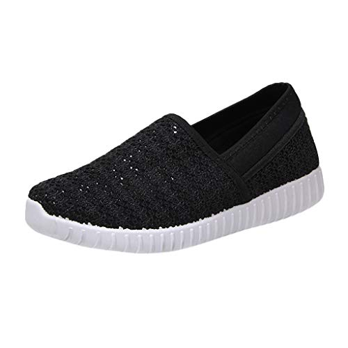 (SSYongxia❤ Women's Slip-On Sneaker - Outdoor Sport Shoes Classic Light Sneakers Casual Walking Shoes for Women Black)
