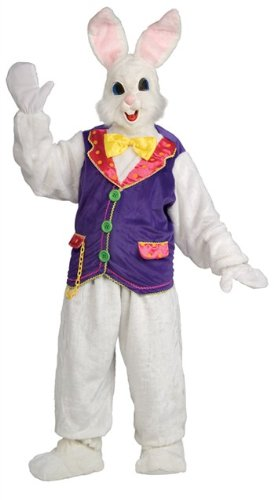 Rubie's mens womens Super Deluxe Bunny Costume, White, One (Female Bunny Costumes)