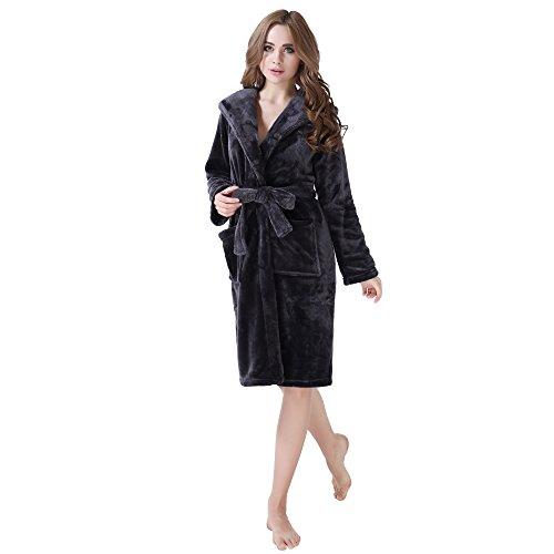 Richie Casa de la Mujer Fleece traje con capucha RHW2233 tamaño S-XL Gris