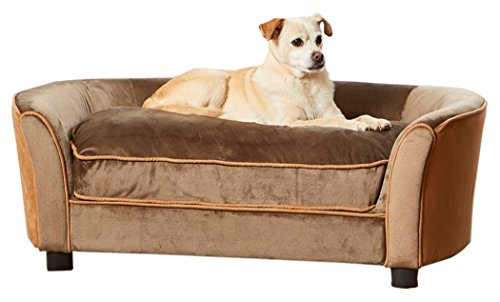 Enchanted Home Pet Ultra Plush Panache Pet Sofa In Mink Brown By Enchanted  Home Pet