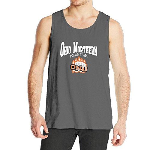 STUAOTO Men's Ohio Northern University ONU Polar Bears Logo Tank Top - Cardigan Polar