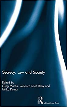 Book Secrecy, Law and Society