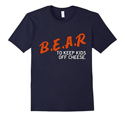 Mens Chicago Football Shirt - B.E.A.R. off the CHEESE Funny DARE XL Navy