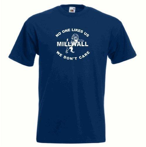 (Sports Crazy unisex Millwall FC Nobody Likes Us Football Soccer FC T Shirt Large Navy Blue)