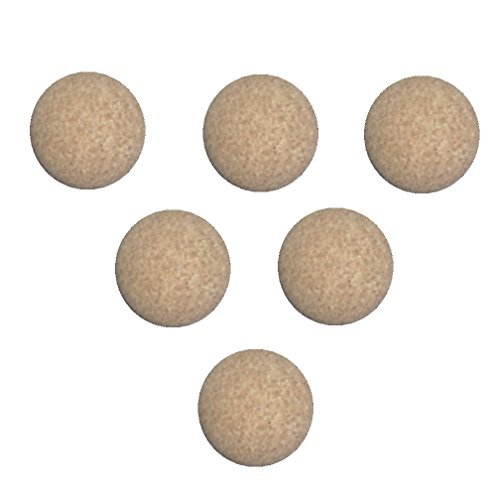 (Rene Pierre Foosball Table Cork Ball Replacement - Natural (Set of 6))