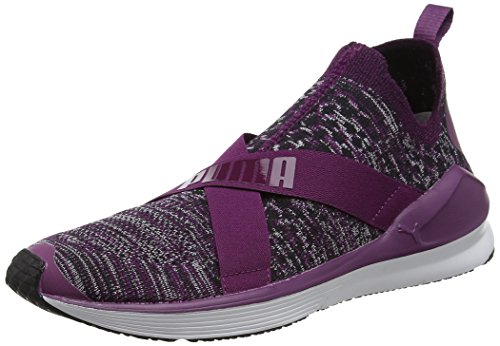 Femme Puma Purple white de Chaussures Dark Violet Evoknit Fierce Fitness rRqRXPx