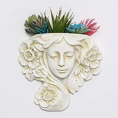 simpdecor Vaso per Piante sospeso e Vaso per fioriera a Parete, Decorazione per Parete sospesa Angel -Grande per Piante succulente Piante finte Decorazione per Appendere al Coperto o all'aperto