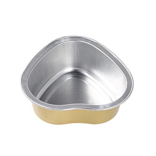 Anself 10Pcs 30g Melting Wax Bowl Reusable Heart Shape Aluminum Foil Bowl Film Hard Waxing Hair Removal Bean Bowl