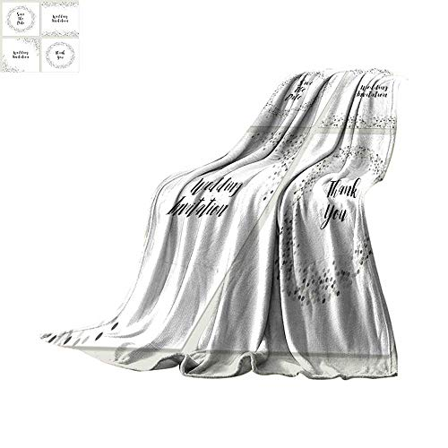 Angoueleven Fleece Blanket Throw Set of Luxury Wedding Card templates with Silver Glitter Confetti Throw Blanket 70