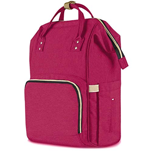 Diaper Bag Backpack Baby Bag Multifunction Maternity Travel Changing Pack – Water Resistant Nappy Tote (Ruby)