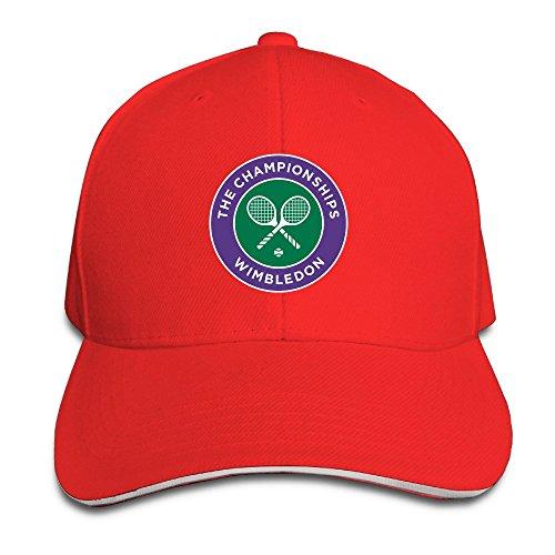 yahqi Campeonato de el Tenis de Wimbledon Unisex Gorro de Rojo