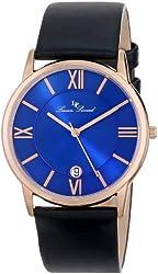 Lucien Piccard Unisex LP-10608-RG-03 Moiry Analog Display Swiss Quartz Black Watch