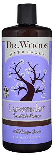 Dr. Woods Pure Lavender Liquid Castile Soap, 32 Ounce
