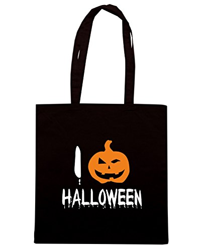 T-Shirtshock - Bolsa para la compra T0349 i love halloween festivita Negro