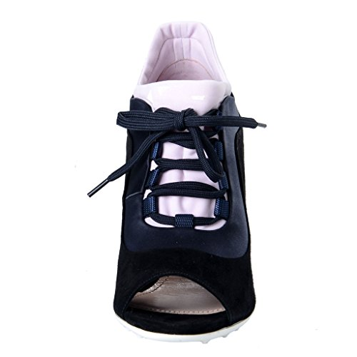 Miu Miu Dames Zwart Suède Leren Open Teen Slofjes Laarzen Schoenen Zwart
