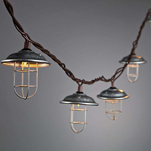 Metal Cage Outdoor String Lights in US - 3