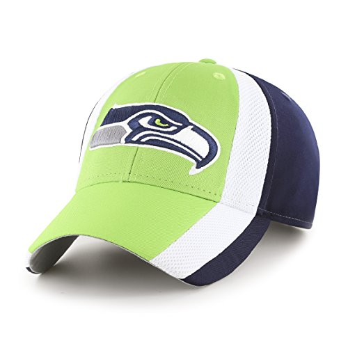 OTS NFL Seattle Seahawks Adult Select All-Star MVP Adjustable Hat, One Size, Light Navy