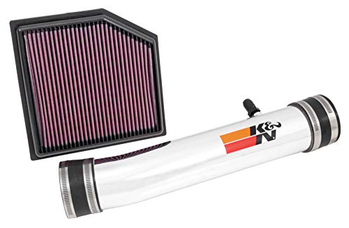K&N Cold Air Intake Kit with Washable Air Filter:  2013-2019 Lexus (GS 350, IS 350, RC 350, IS 250) 2.5/3.5L V6, Polished Metal Finish with Red Oiled Filter, 69-8704TP (2017 Lexus Gs 350 F Sport Horsepower)