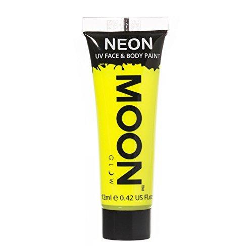 Moon Glow - 0.42oz Blacklight Neon UV Face & Body Paint - Intense Yellow ()