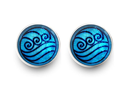 [Water Tribe Earrings Avatar the Last Airbender Earrings Stud Jewelry] (Katara Costume For Sale)