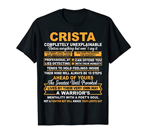CRISTA Completely Unexplainable Name T-shirt is