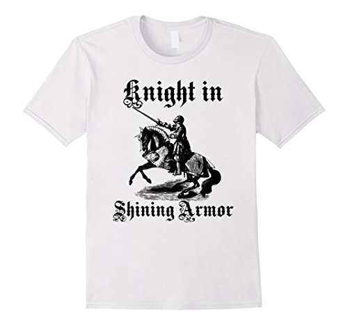 Knight In Shining Armor Costumes For Men (Mens Knight In Shining Armor Medieval and Renaissance T Shirt Large White)