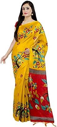 Chandrakala Women's Art Silk Indian Ethnic Banarasi Saree with Unstitched Blousepiece(1