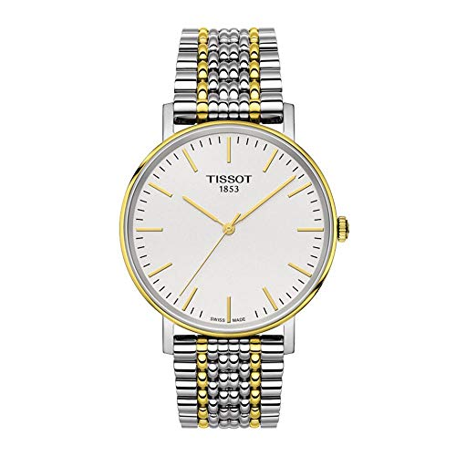 Tissot T-Classic White Dial Two Tone Stainless Steel Men