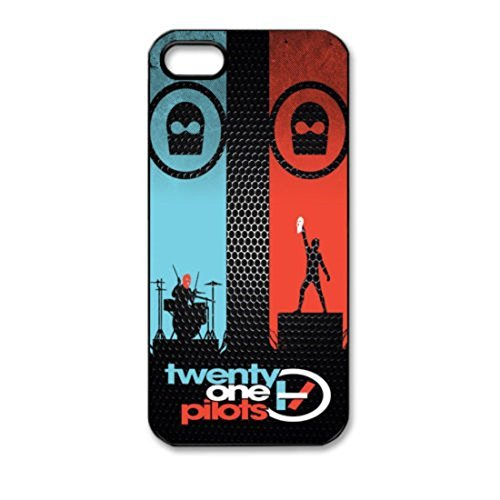 Twenty One Pilots Pattern Silicone Rubber Non-slip Protective Cover Case Skin For Apple iPhone 5 5S